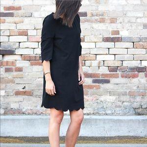 Tobi Scalloped Edge Shift Dress